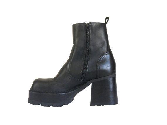ad897537646 Vintage 90s Steve Madden Monster Platform Boots by ...