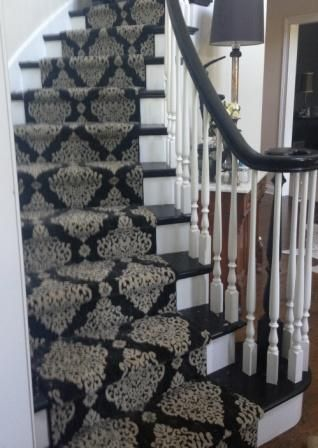 This Stanton Carpet Stair Runner On A Circular Stairway In