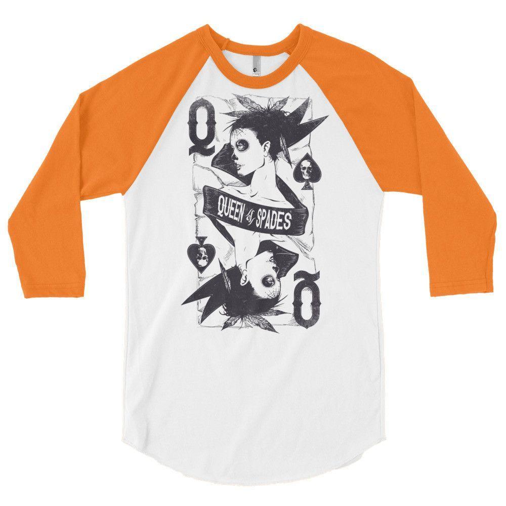 Queen of Spades 3/4 sleeve raglan shirt