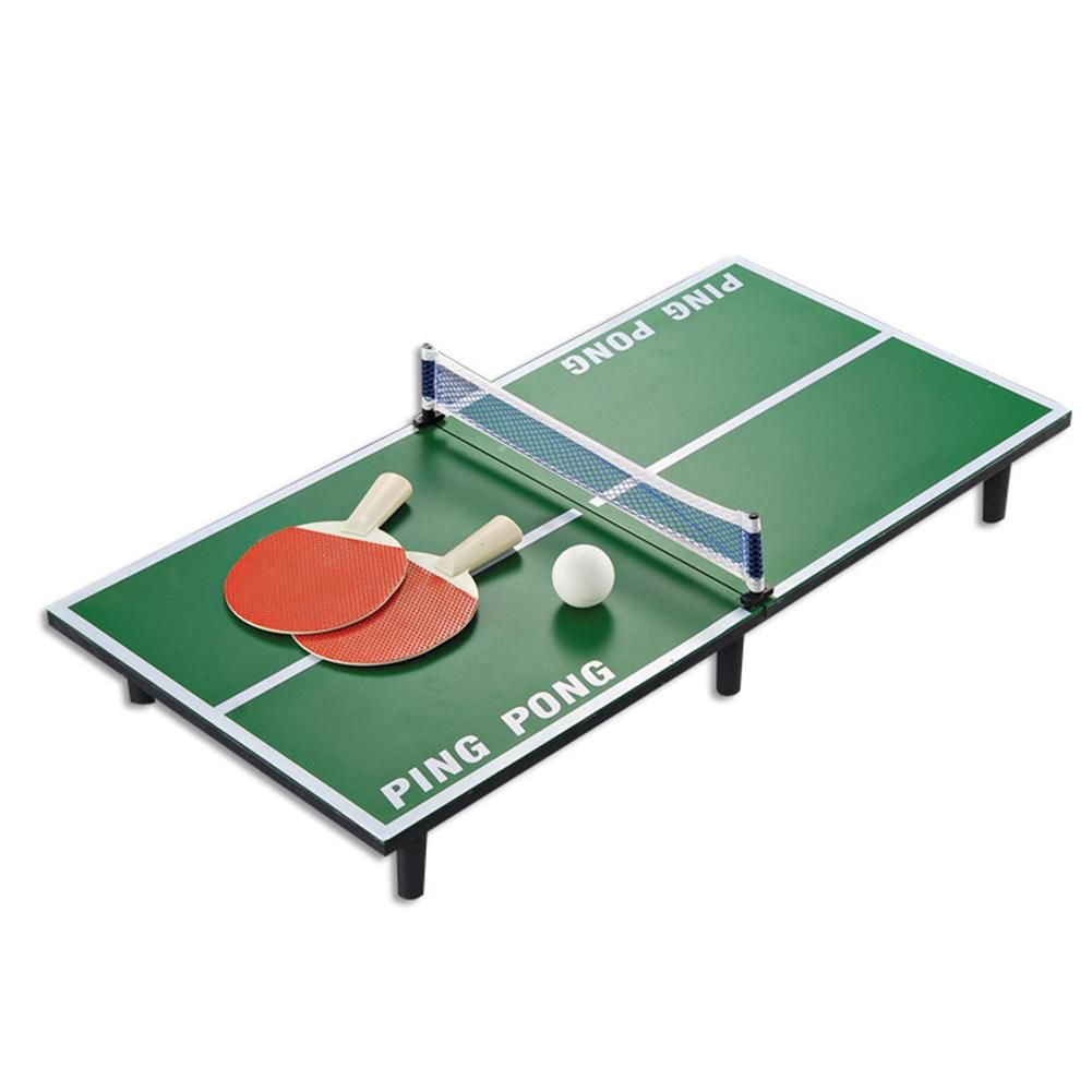 1 Set Mini Ping Pong Racket Table Set Table Tennis Wooden Portable Board Game Set Sport Entertainment Toy Mini Ping Pong Table Ping Pong Ping Pong Table Tennis