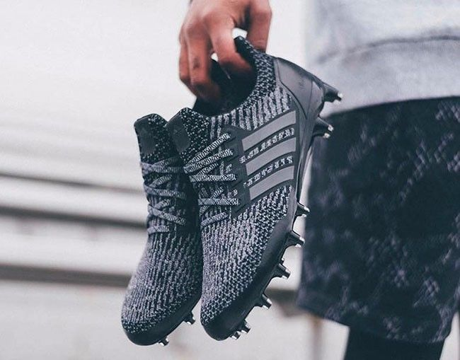 Adidas Ultra Boost Football Cleats New Size 9 Triple Black Adidas Cleats Adidas Prom Shoes Adidas Ultra Boost