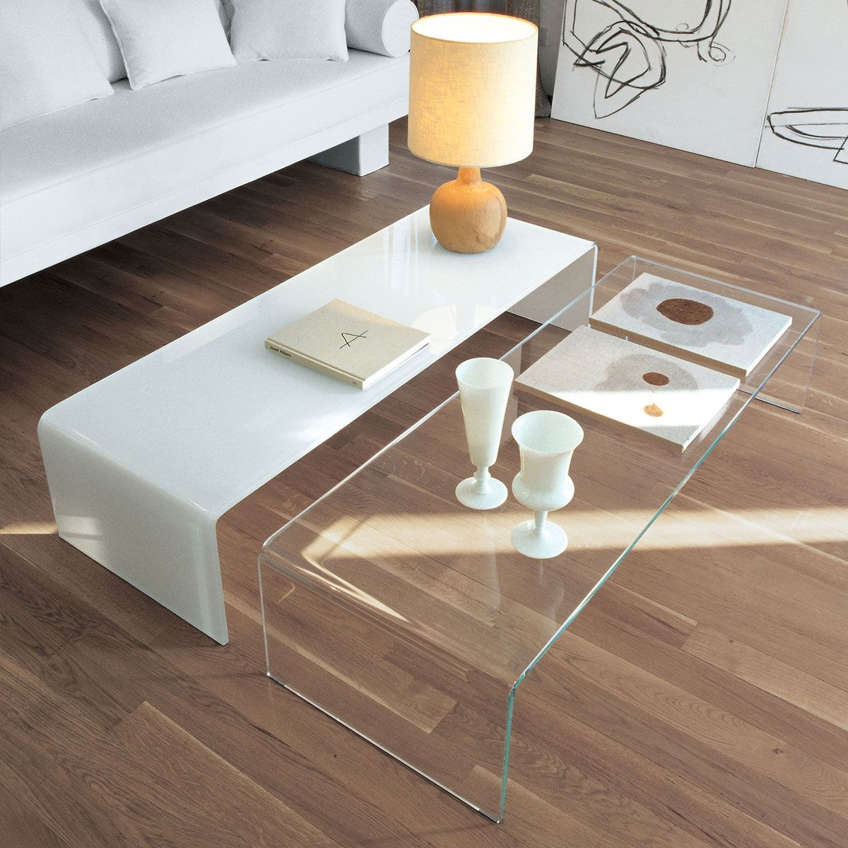 Glass Coffee Tables Furniture Village: Bridge Curved Glass Coffee Table By Sovet Italia