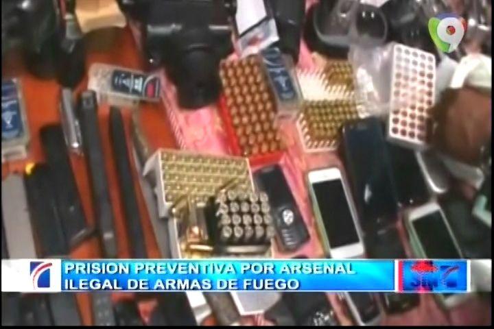 Prisión Preventiva Por Arsenal De Armas De Fuego