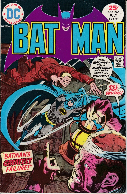 Batman 265 july 1975 dc comics grade vgfn in 2020