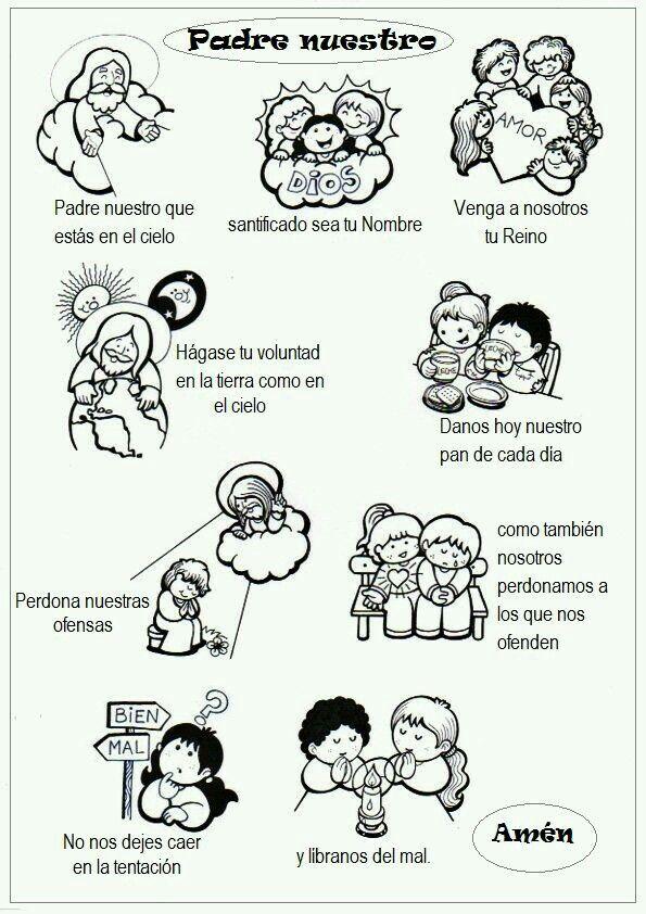 El Padrenuestro Catequesis Oraciones Para Ninos Padrenuestro