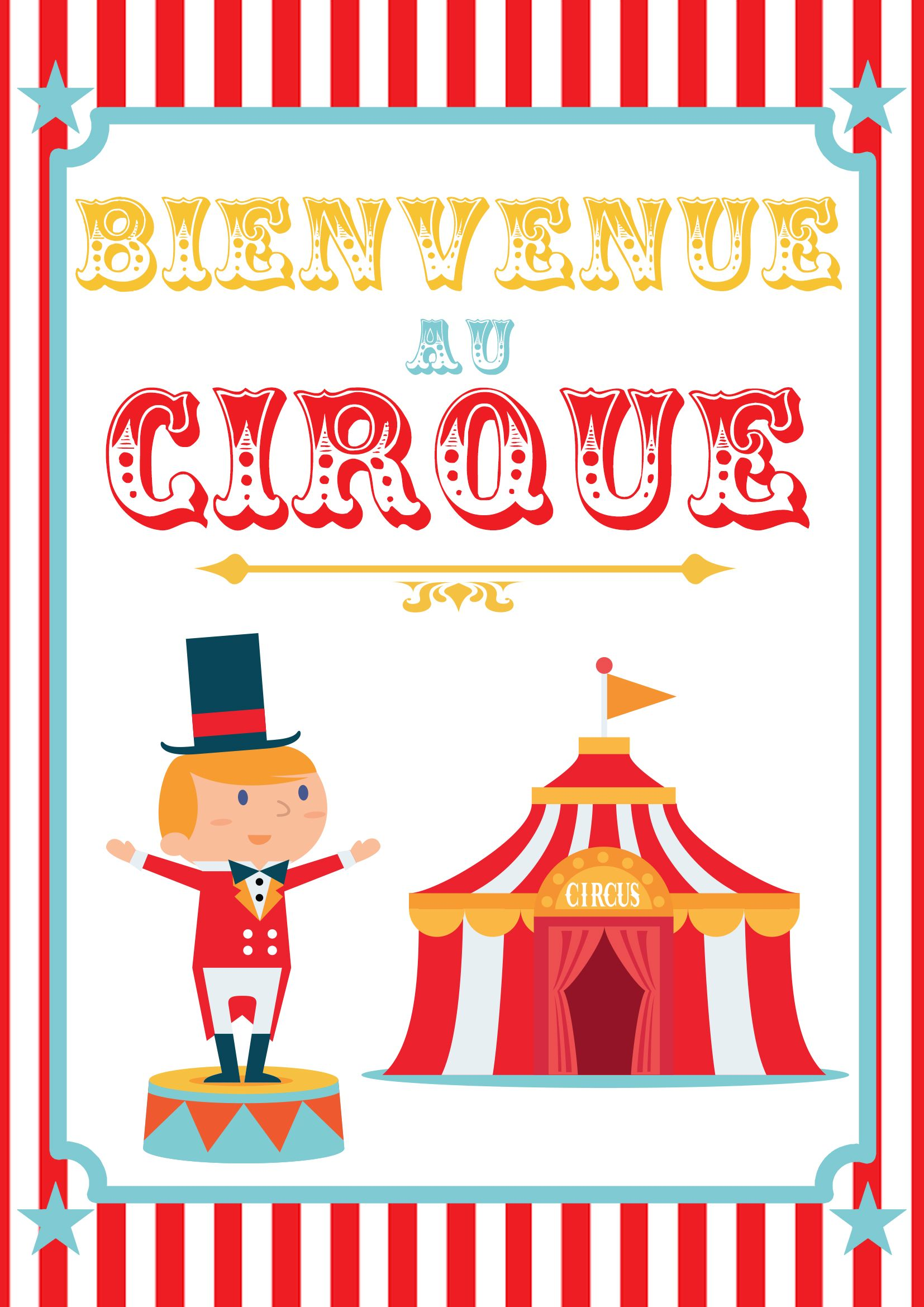 poster cirque imprimer anniversaire pinterest cirque anniversaires et maternelle. Black Bedroom Furniture Sets. Home Design Ideas