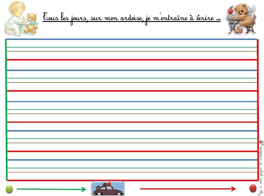 fabriquer des ardoises effa able ecriture dyspraxie lignes en couleurs outils pour la classe. Black Bedroom Furniture Sets. Home Design Ideas
