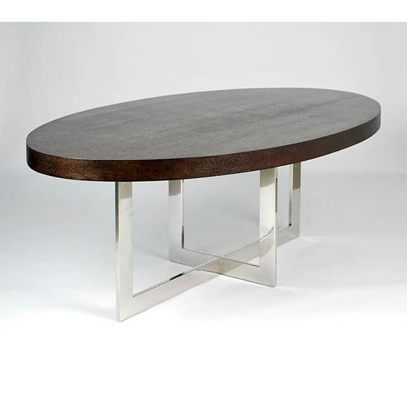 Modern oval dining table oval dining tables enhance your for Wood modern dining table