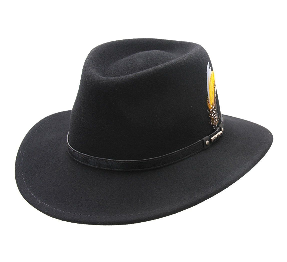 a7e1212315c90a Stetson Men's Biscoe Wool Felt Fedora Hat at Amazon Men's Clothing store: