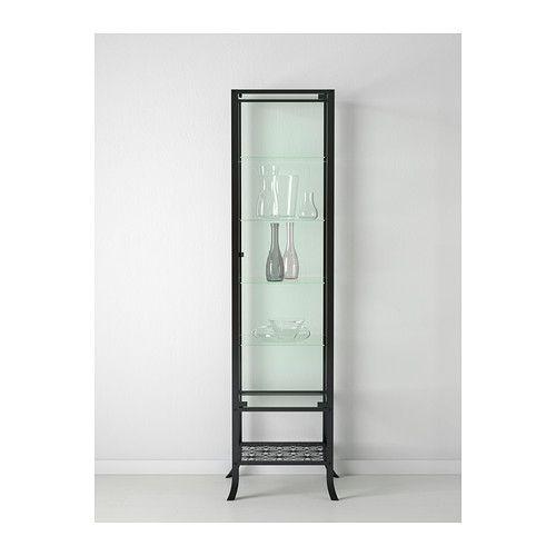 klingsbo vitrinekast zwart helder glas. Black Bedroom Furniture Sets. Home Design Ideas