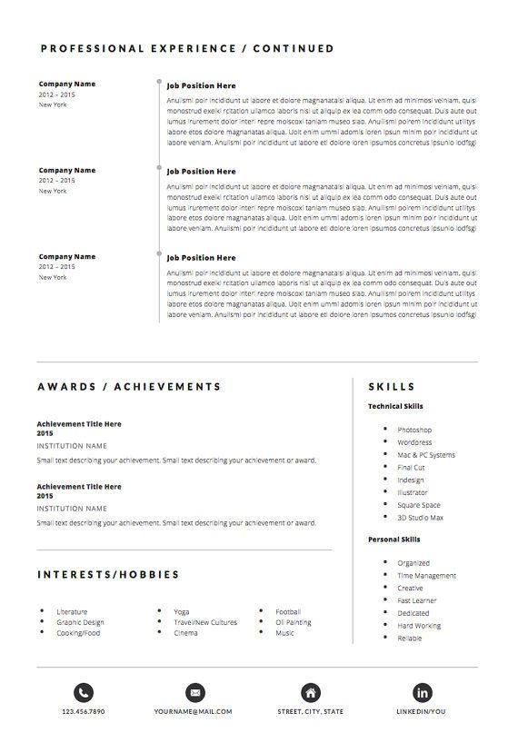 4page Resume Template Cv Template Pack Cover Letter For Word Icon Set Instant Digital Download Resume Cover Letter Design Resume Template Cv Template