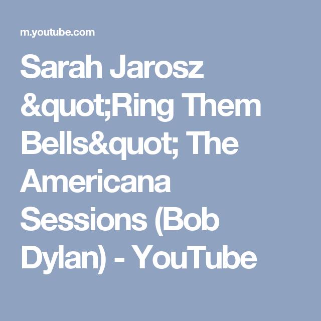 "Sarah Jarosz ""Ring Them Bells"" The Americana Sessions (Bob Dylan) - YouTube"