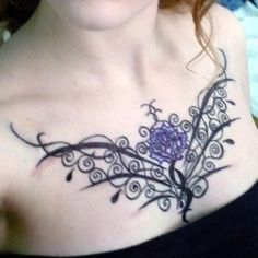 c8bf625ddcc29 upper chest tattoos on women - Google Search | Tattoo Ideas | Chest ...