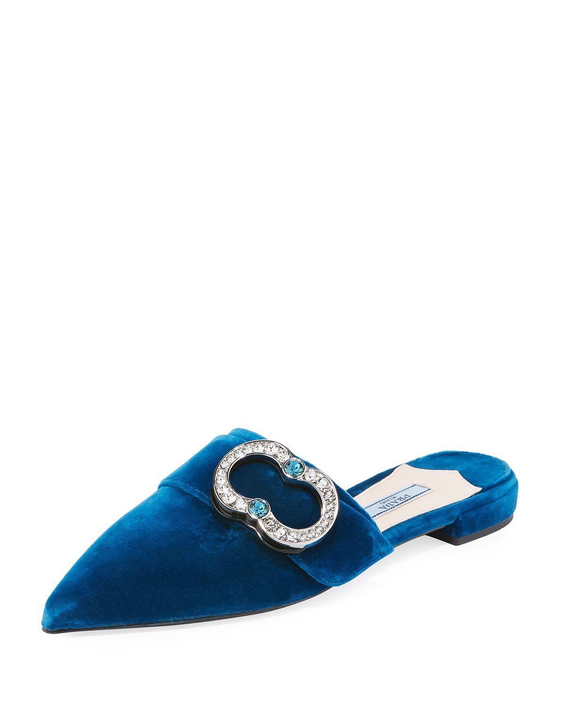 Glisse Boucle De Velours - Prada Bleu qnhapkmrX
