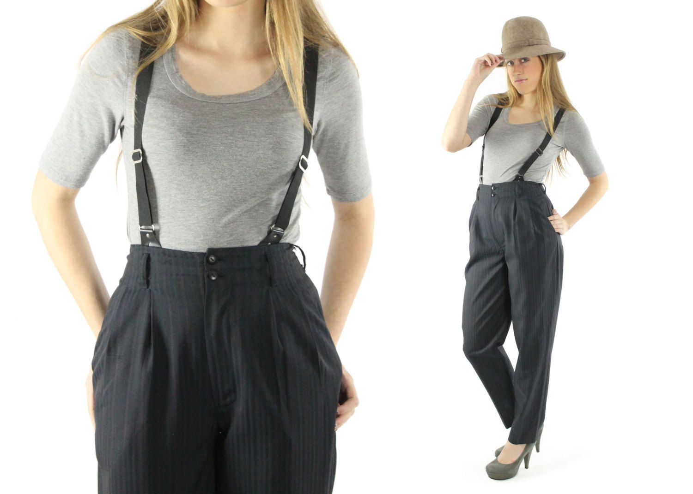 Navy wool zip cardigan sweater 1940s S M