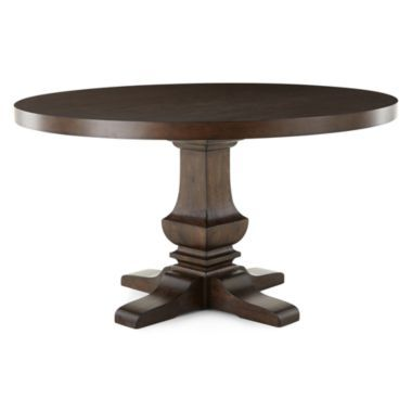 Farmhouse 54 Wood Pedestal Dining Table Found At Jcpenney Dining Table Round Dining Table Wooden Kitchen Table