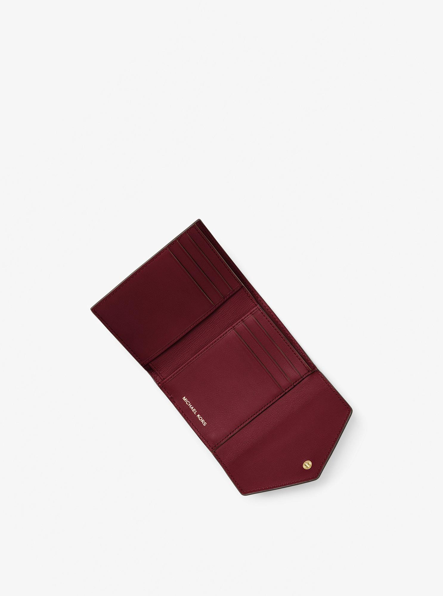 ffdd865d05574a Michael Kors Jet Set Small Leather Envelope Wallet - Oxblood ...