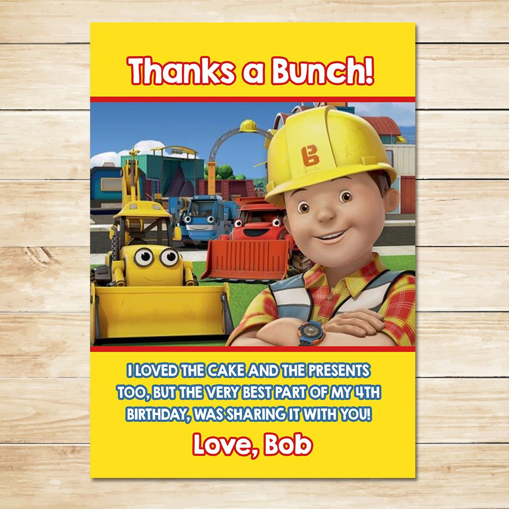 BIRTHDAY CELEBRATION BOB THE BUILDER PERSONALISED BANNER POSTER ADD NAME TEXT