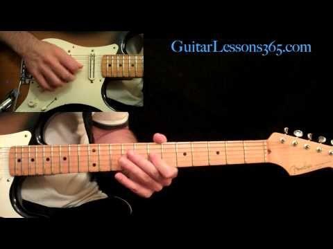 Thunderstruck Guitar Lesson Pt2 Acdc All Rhythm Guitar Parts