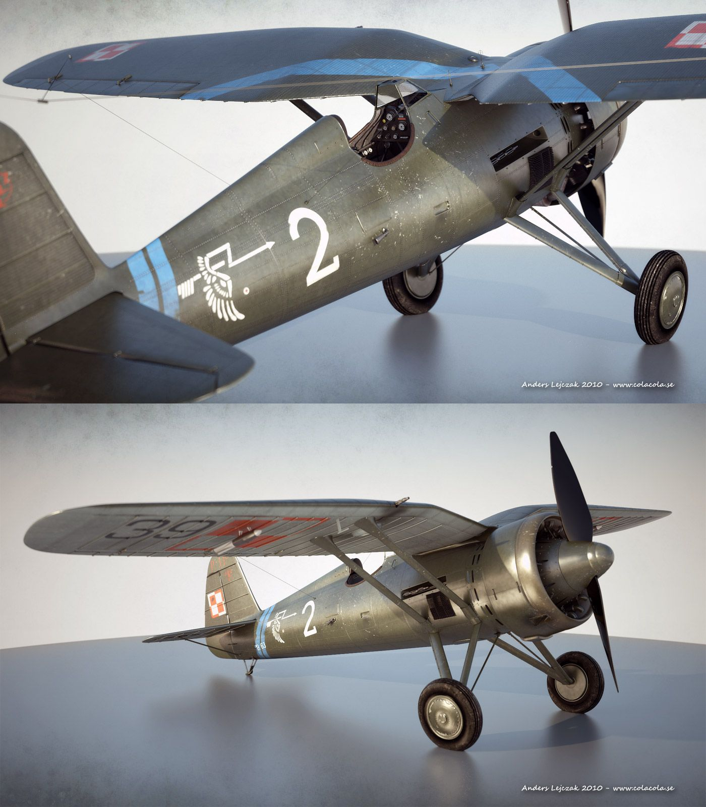 PZL p11 scale model by ~bazze | Aircraft Models | Scale