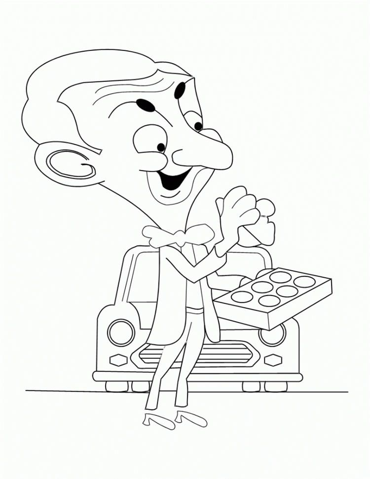 Kids Free Cartoon Coloring Pages Mr Bean Cartoon Coloring Pages