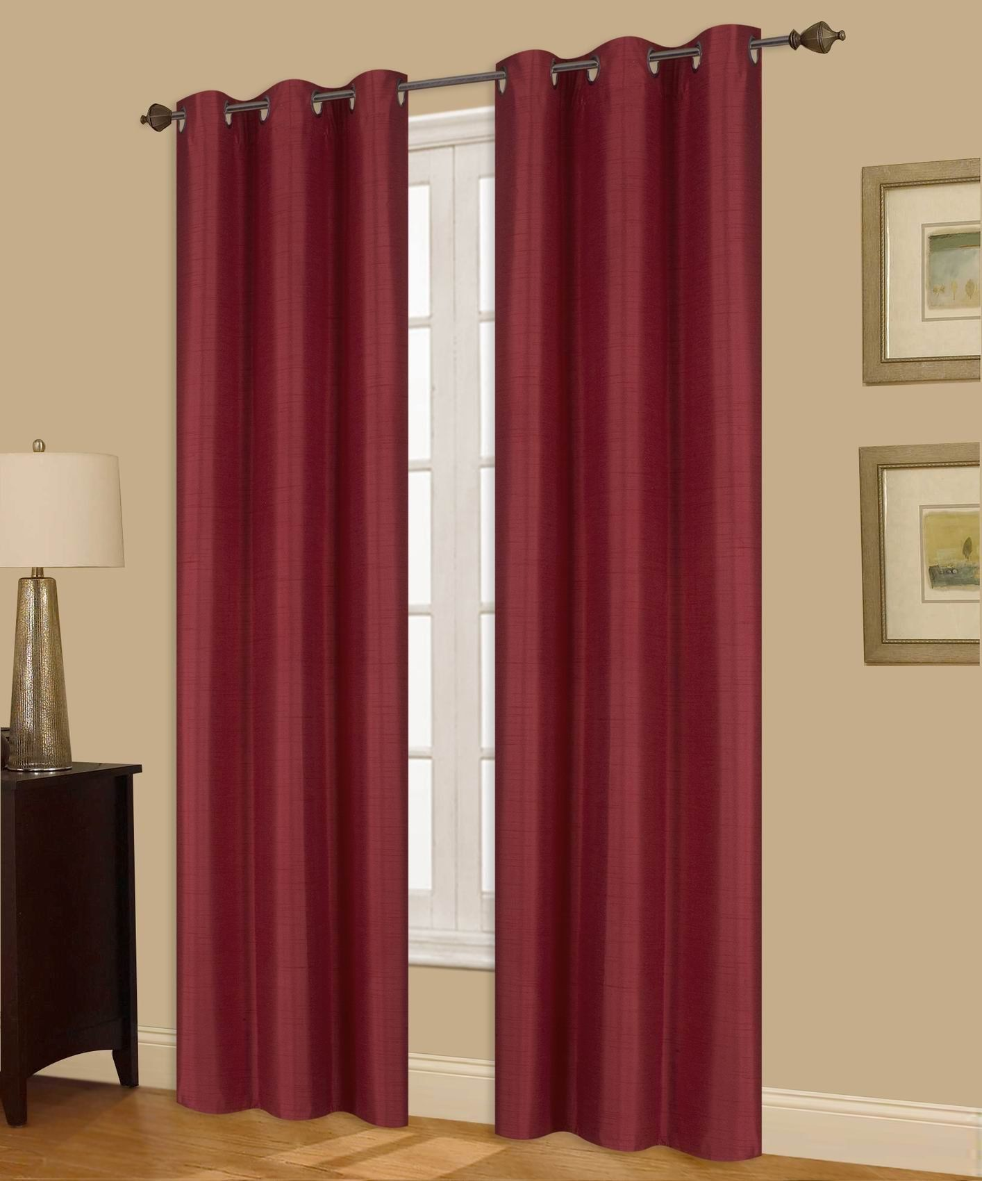 Gorgeoushomelinen A72 1 Panel Window Curtain Bronze Grommet Top Lined Foam Backing Insulated Thermal Drape Blackout Bur In 2020 Window Curtains Curtains Panel Curtains