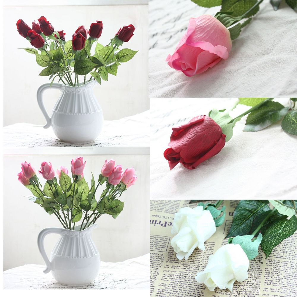 Free Shipping Buy Best 20pcsset Fresh Rose Artificial Flowers Silk