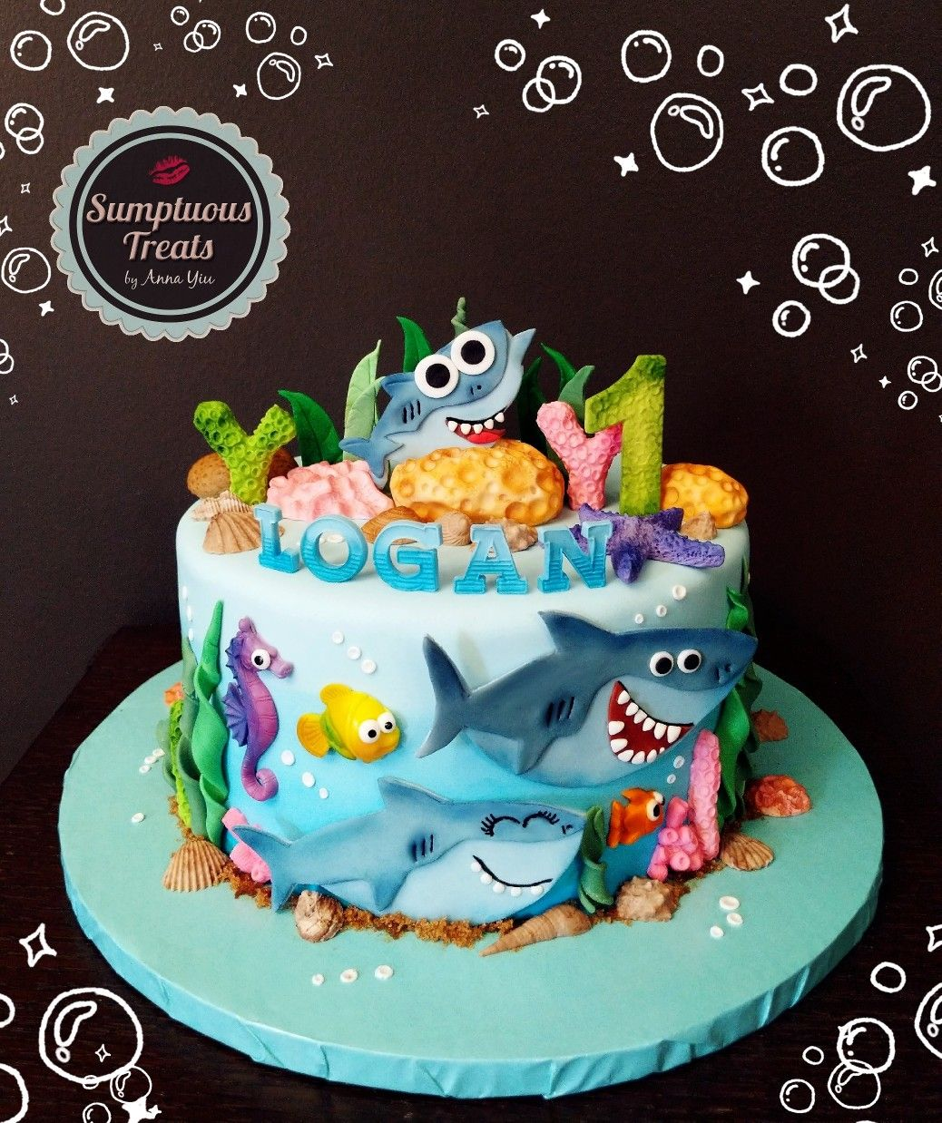 Baby Shark Simple Songs Cake 1stbirthdayparty 1stbirthday