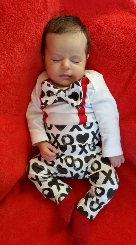 Valentines Day Outfit Newborn Boy Baby Boy Valentine S Day