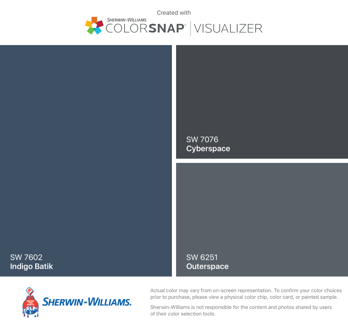 I Found These Colors With ColorSnap® Visualizer For IPhone By Sherwin  Williams: Indigo. Exterior ColorsExterior Gray PaintKitchen ...