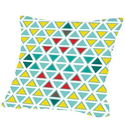 Americanflat Traingle Multi Outdoor Throw Pillow Size: