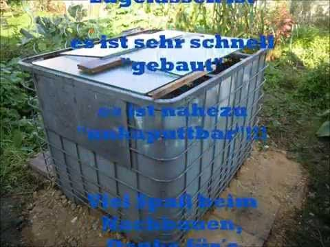 Pool Bau aus einem 1000 l IBC  Tank Container - YouTube