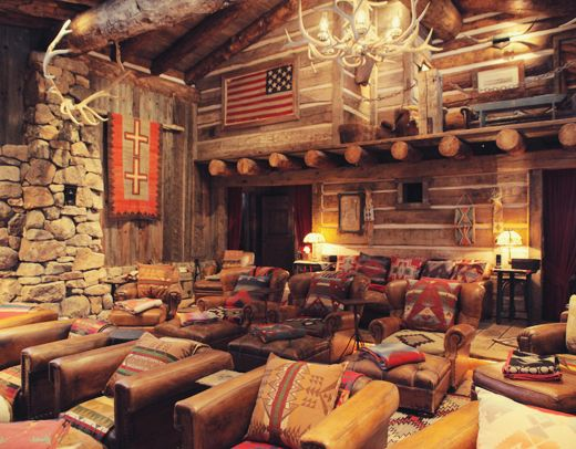 Ralph Lauren S Double Rl Ranch Interior Telluride Colorado Usa