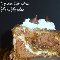 Pair German chocolate cake with a pecan pie for the most amazing dessert ever-Piecaken!
