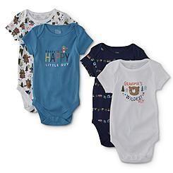 af9b9085a Little Wonders Infant Boys  4-Pack Short-Sleeve Bodysuits - Grandma ...