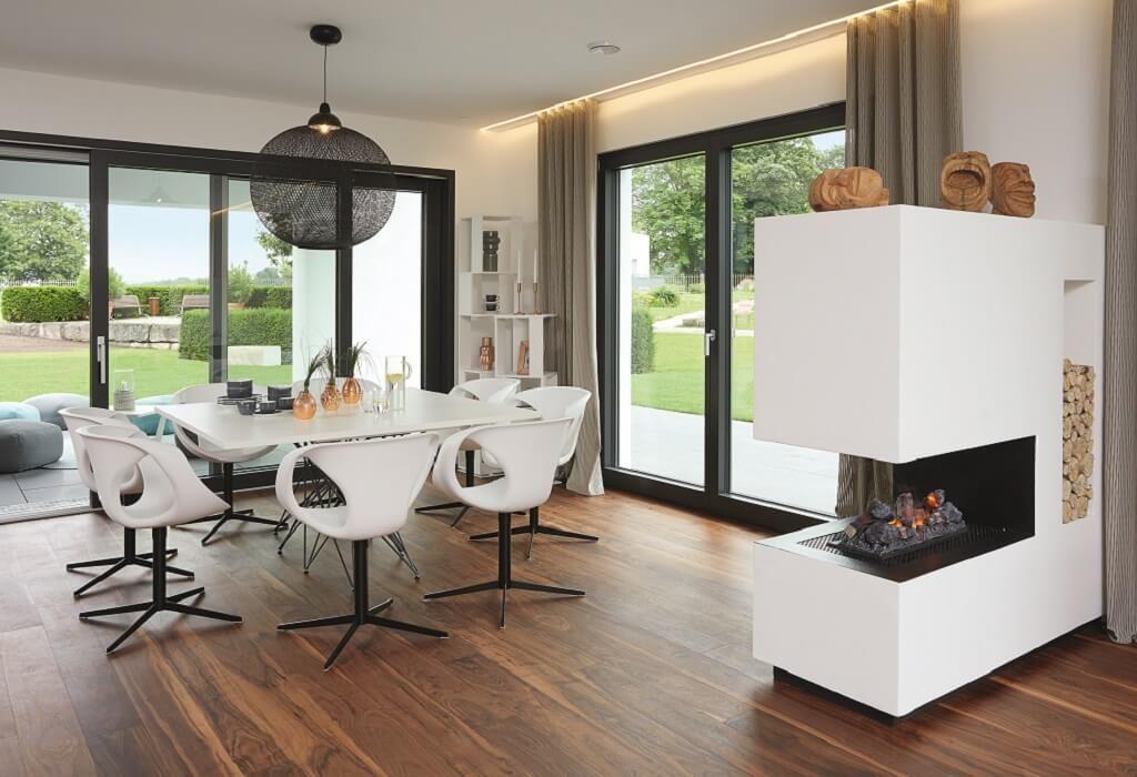 Wohnraume mit kamin architektenhauser for Architektenhauser inneneinrichtung