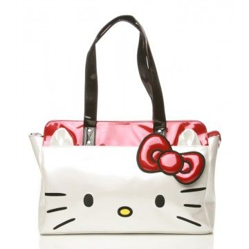 cddc867ab Hello Kitty Face Shoulder Bag in Black....WANT WANT WANT :P | My ...