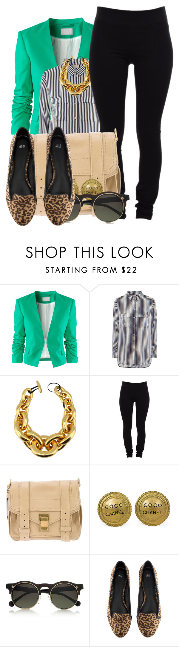 """""""CoCo Chanel."""" by theqveen ❤ liked on Polyvore featuring H&M, Monies, Helmut Lang, Proenza Schouler, Chanel and Carven"""