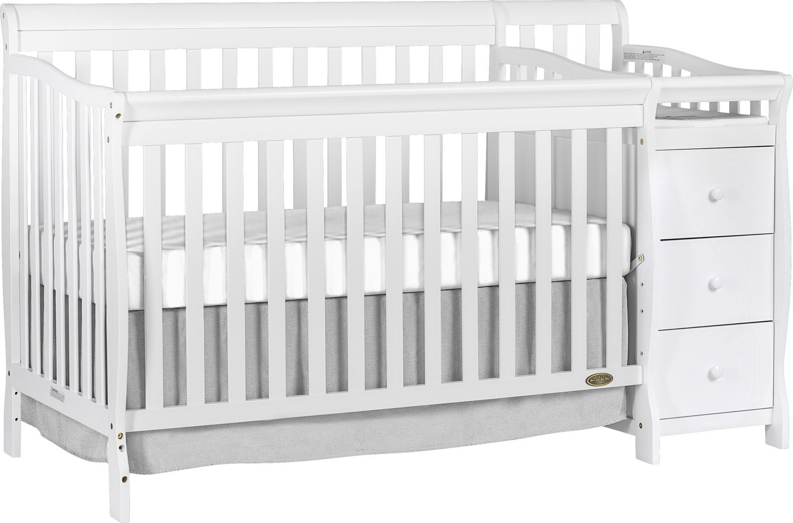 Bosley White Convertible Crib And Changer In 2020 Toddler Room