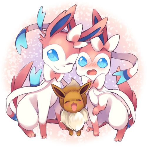 eevee and sylveon   Pokemon   Pinterest   Pokémon, Eevee ...  eevee and sylve...