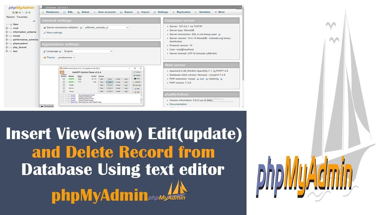 Insert View Show Edit Update And Delete Record From Database Using In 2020 Web Development Design Text Editor Web Design