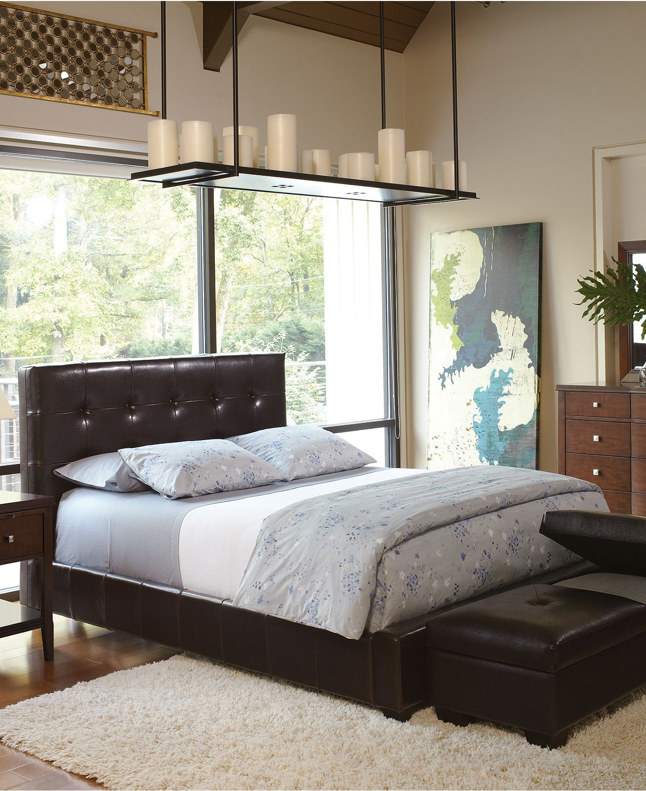 Our new headboard found it at macyus outlet perfect condition