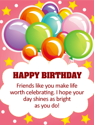 I Hope Your Day Shines Happy Birthday Card For Friends This