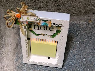 idea for a frame post-it holder ♥