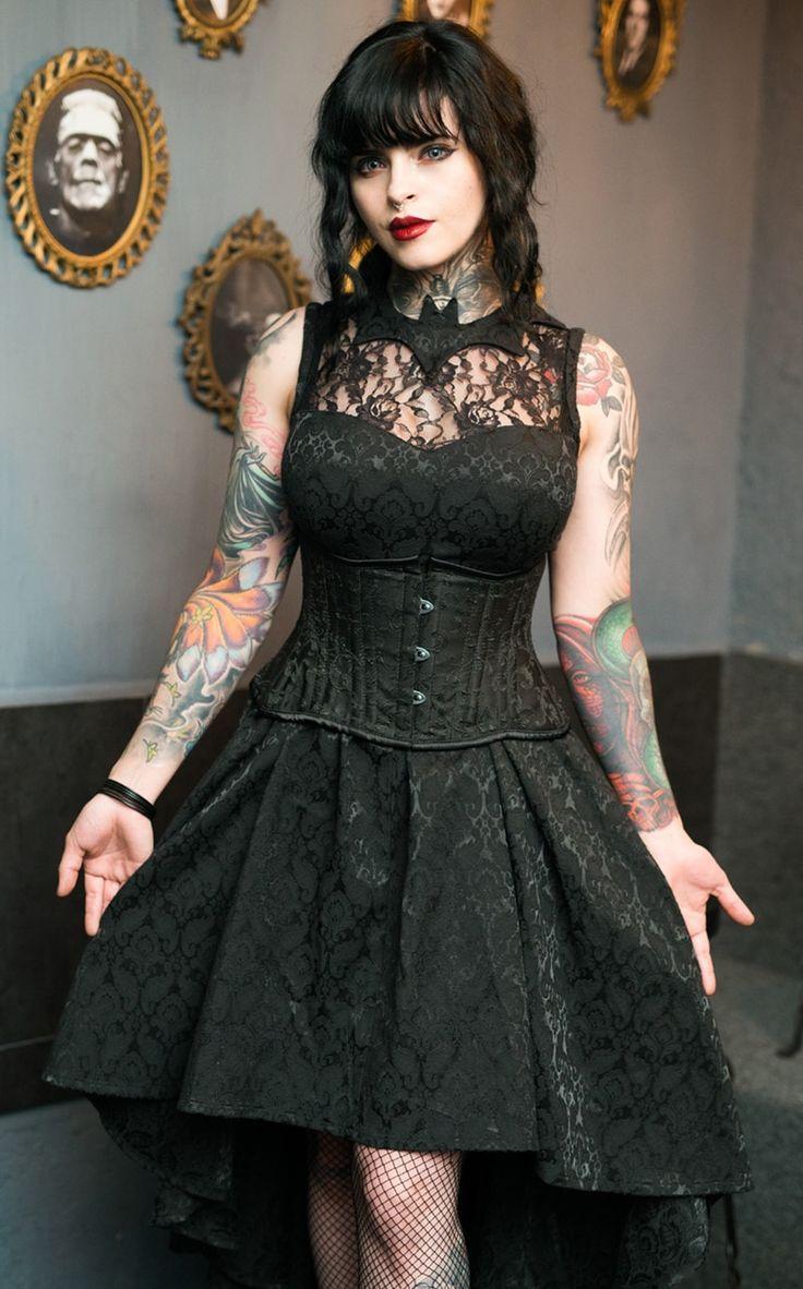 Bat Succubus Dress Gothic Fashion Victorian Gothic Fashion Modern Gothic Fashion Casual [ 1182 x 736 Pixel ]