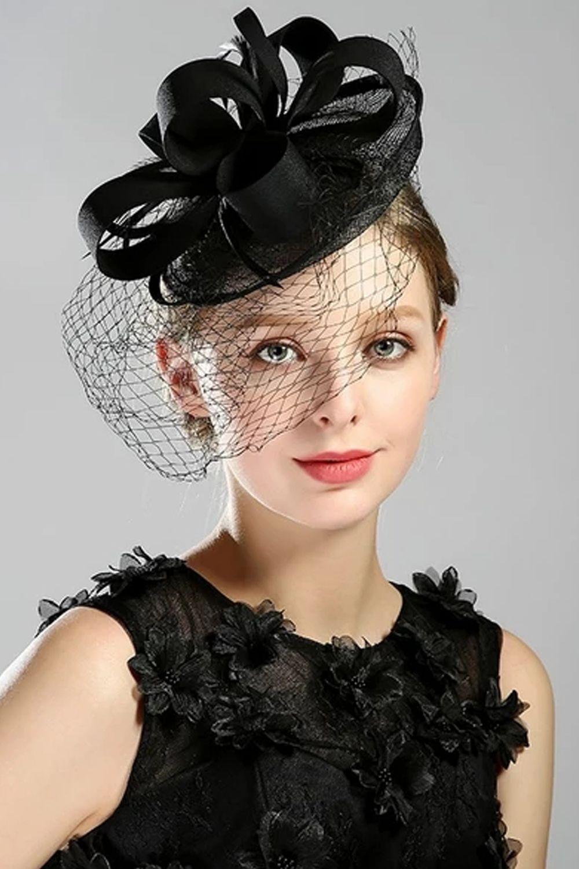 Pillbox Hat With Birdcage Net Fascinator Headband Party Headwear Wedding Hats Fascinator Headband Bridal Hat