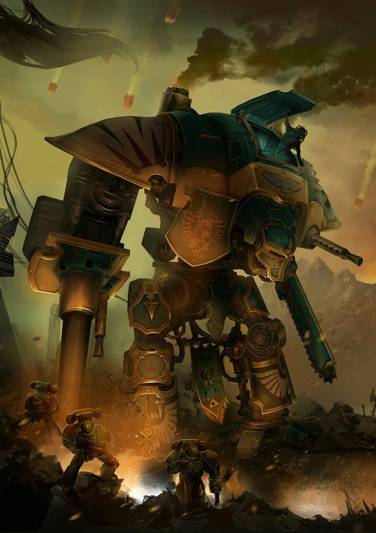 Warhammer 40k: FreeBlade official illustration | Emperor's ...