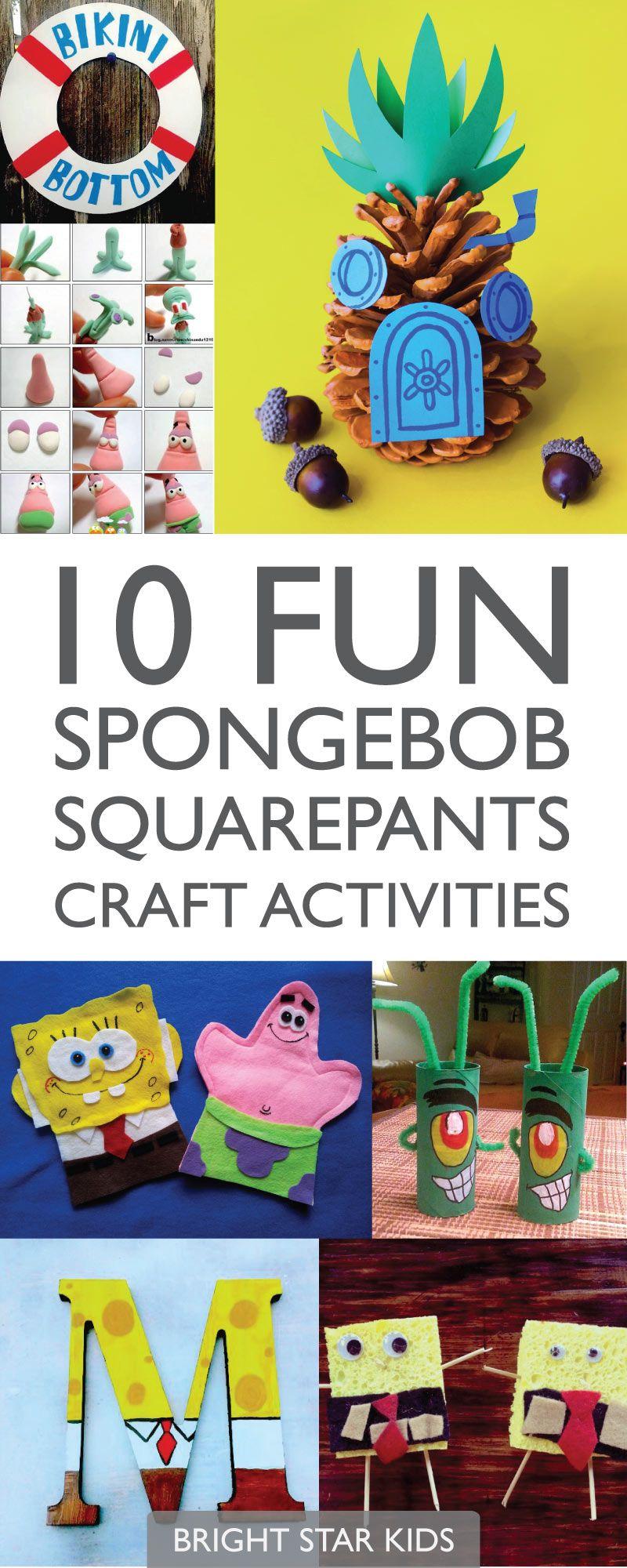 10 Fun Spongebob Squarepants Craft Activities Craft Activities