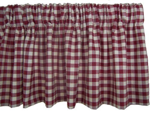 Rlf Home Comet Check Valance Red By Rlf Home 29 99 3 Inch Rod