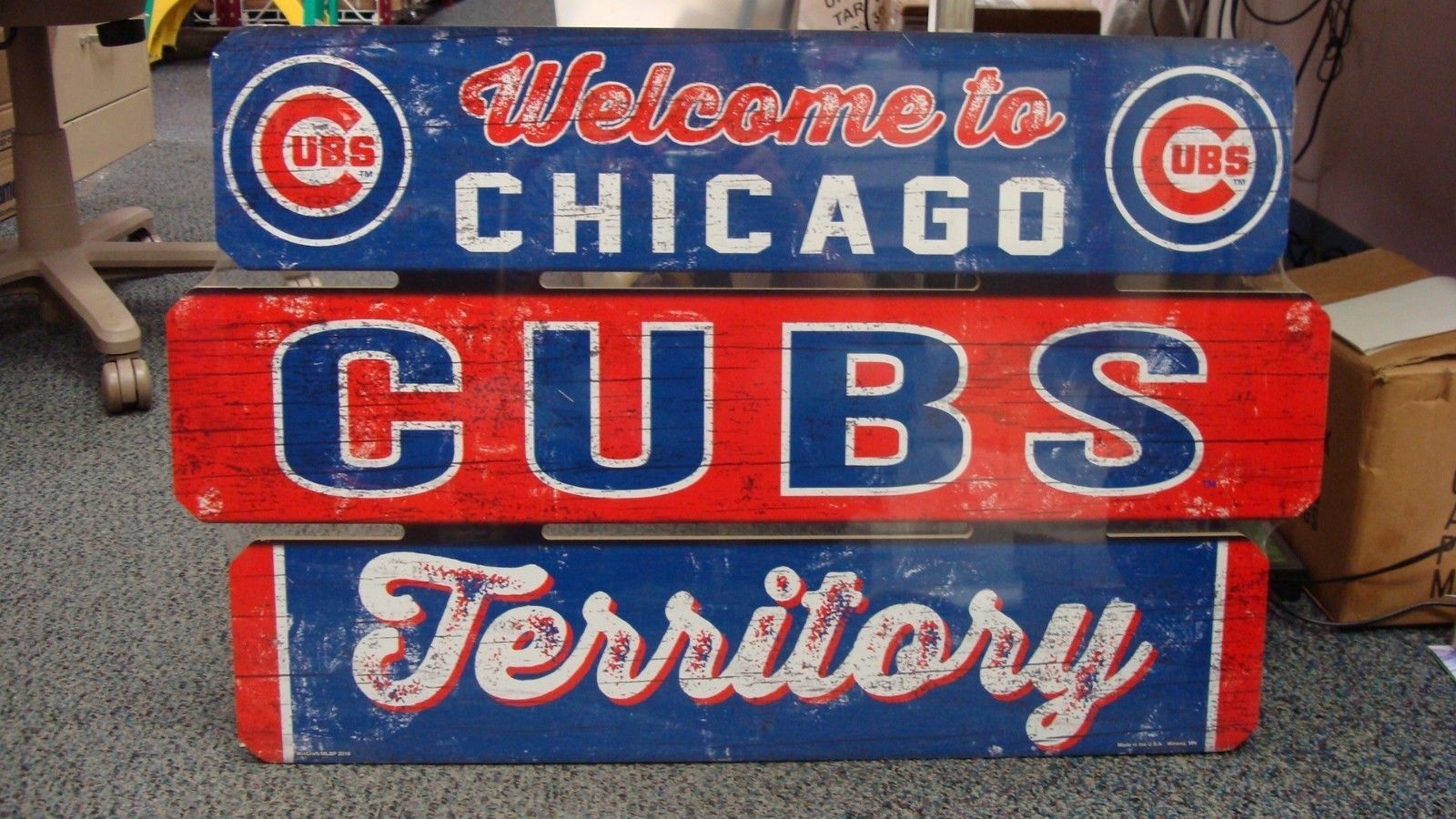 Chicago Cubs Welcome To Chicago Cubs Territory Wood Sign 19 X30 New Wincraft Wood Signs Chicago Cubs Wincraft